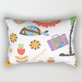 Trav pattern 3h Rectangular Pillow