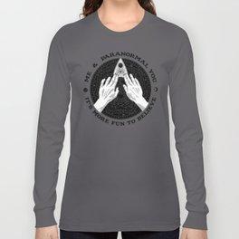 Me & Paranormal You - James Roper Design - Ouija B&W (black lettering) Long Sleeve T-shirt