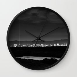 Sin City Nights Wall Clock