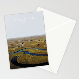 Okavango Delta, Botswana Artwork. Stationery Cards