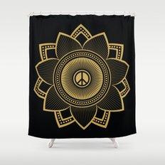 Peace Lotus Shower Curtain