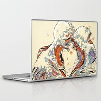 huebucket Laptop & iPad Skins featuring The Wave of Love by Huebucket
