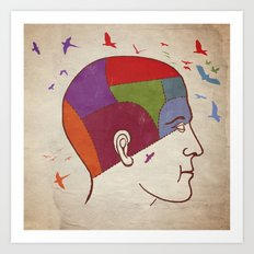 Thought patterns Art Print