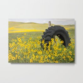 Sunflower Tire Metal Print