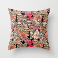 Because Sloths Throw Pillow