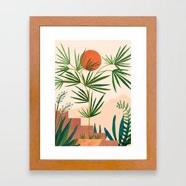 Weekend in Mojave / Desert Landscape Framed Art Print