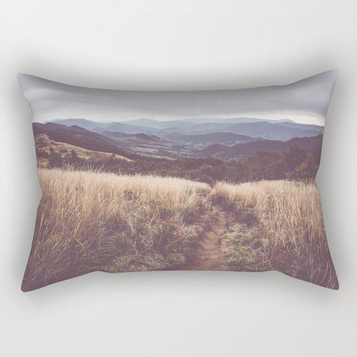 Bieszczady Mountains - Landscape and Nature Photography Rectangular Pillow