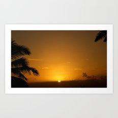 Hawaii Sunset Series D Art Print