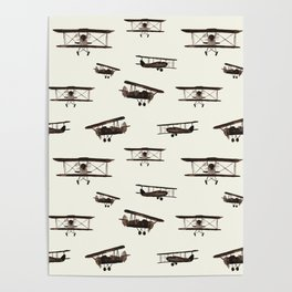Retro airplanes Poster