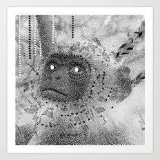 Pow Wow moneky Art Print