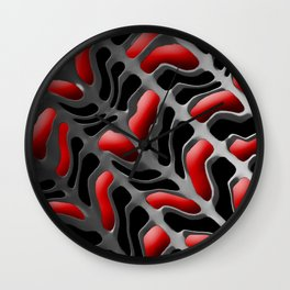 Red Skelly Wall Clock