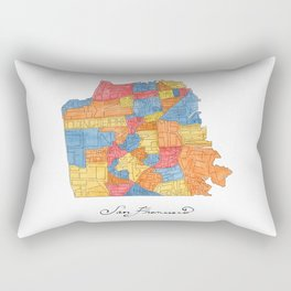 San Francisco Neighborhoods Rectangular Pillow