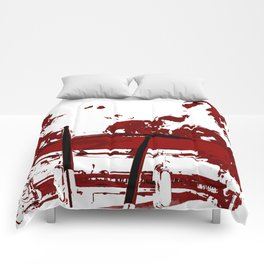 RED SMOKE LIGHT Comforters
