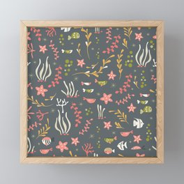 Sea creatures 007 Framed Mini Art Print