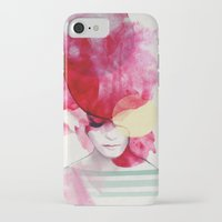 beach iPhone & iPod Cases featuring Bright Pink - Part 2  by Jenny Liz Rome