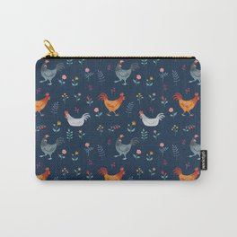 Little Hens (blue) Carry-All Pouch