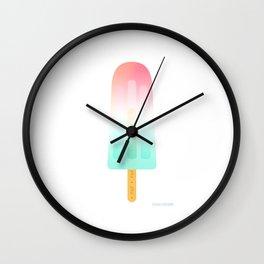 Pop, pop, pop my popsicle by Sarah van Ours / SarahvanOurs Wall Clock