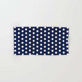 Navy Blue Polka Dot Hand & Bath Towel