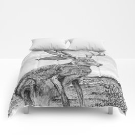 Chisos Mountain Jackalope Comforters