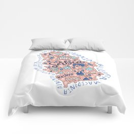 Map of Serbia Comforters