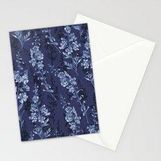 Blue Flower Pattern Stationery Cards