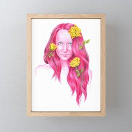 Roses   Endometriosis awareness Framed Mini Art Print