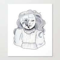 doll Canvas Prints featuring Doll by scoobtoobins