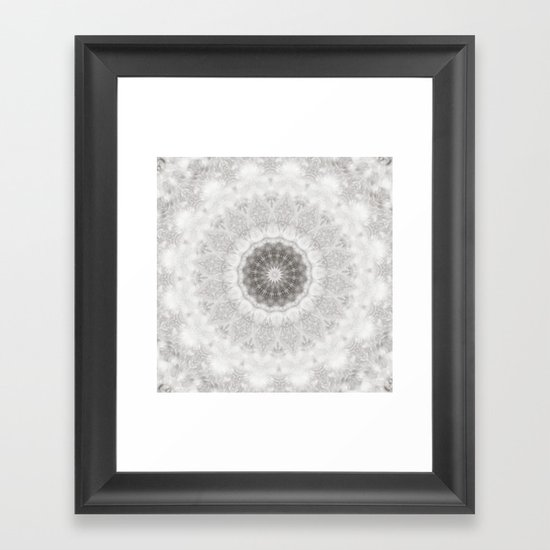 Silver and lace... Framed Art Print