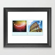 Rome, Italy Polaroids Framed Art Print
