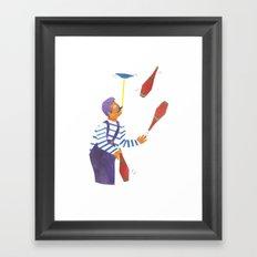 A circus performer named Brian. Framed Art Print