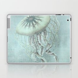 Jellyfish Underwater Aqua Turquoise Art Laptop & iPad Skin