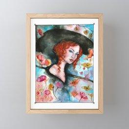Flower garden Framed Mini Art Print