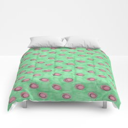 Hand Painted Polka Dots Comforters