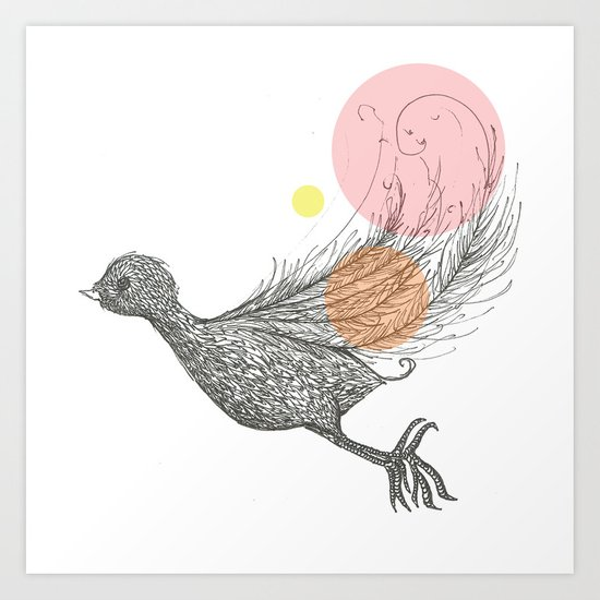 Bird with Own Feather Art Print