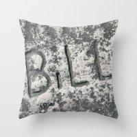 bill Throw Pillows featuring Bill by carol ann garner