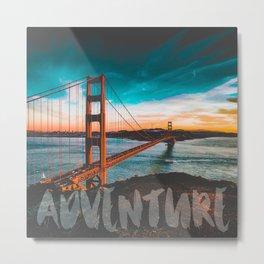ADVENTURE San Francisco Metal Print