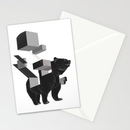 bear_deconstructed Stationery Cards