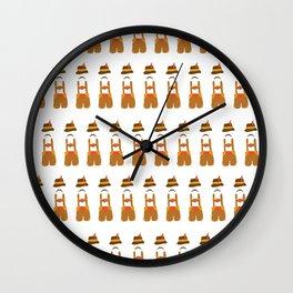Oktoberfest guy on white Wall Clock
