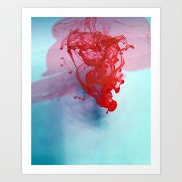 Ink Drop Art Print