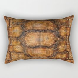Brown Patterned  Organic Textured Turtle Shell  Design Rectangular Pillow