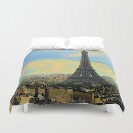 Watercolor Dream of Paris Duvet Cover