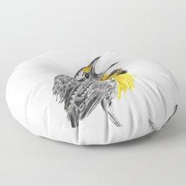Eastern meadowlark Floor Pillow