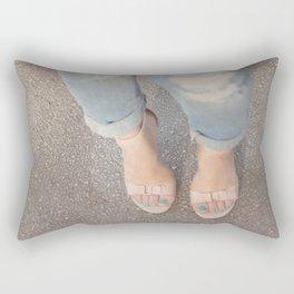 Nude Blue Rectangular Pillow
