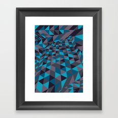 Triangulation (Inverted) Framed Art Print
