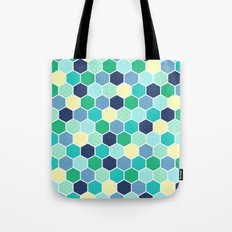 Galactic Hexagons 2 Tote Bag