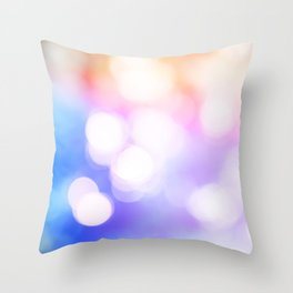 Out of focus bokeh lens effect background with copy space Throw Pillow