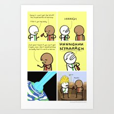 Antics #077 - pop culture reference Art Print