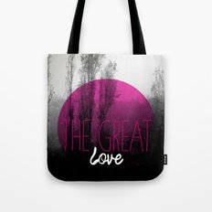 The great love - romantic photography and typography design Tote Bag