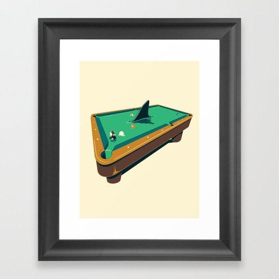 Pool shark Framed Art Print