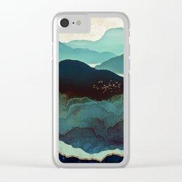 Indigo Mountains Clear iPhone Case
